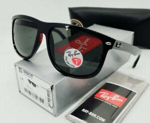 "RAY BAN black/green POLARIZED ""BOYFRIEND"" RB4147 601/58 60 sunglasses! NEW!"
