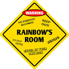 "*Aluminum* Rainbow's Room Kids Room Door 12""x12""  Metal Novelty Sign"