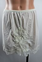 Vtg LORRAINE Sz Small Slip Shorts Bloomers Nylon Lace Off White Lingerie USA