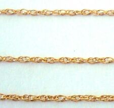 5ft 14k Yellow Gold Filled ROPE Chain loose by foot 1mm made in USA gch40