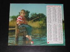 Calendrier PTT 1981 Enfant pêche