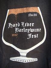 Beer T-Shirt L ~ BROUWER'S BottleWerks 2007 Hard Liver Barleywine Fest ~ Seattle