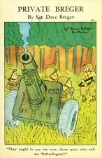 "Private Breger."" Butterfingers "" Card 302, 1943 artist signed by Sgt Dave Breger"
