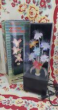 vintage FIBER OPTIC FLOWERS LAMP floral color change light EUC w/ box