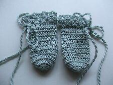 Blue Crochet mitten gloves for Baby, Newborn, preemie, reborn doll