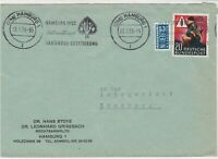 Germany 1953 Hamburg Slogan Obligatory Tax Aid for Berlin Stamps Cover Ref 26463