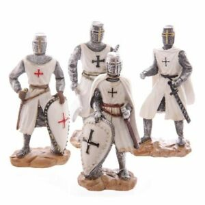 Collectable Crusader Knight Templar Decorative Ornament Medieval Figurine Gift