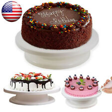 """11"""" Revolving Rotating Cake Decorating Stand Swivel Plate Turntable for Party"""