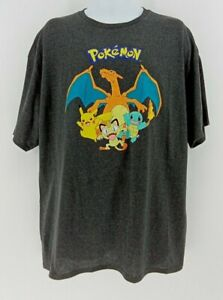 Mens Pokemon T-Shirt 2XL Officially Licensed Pikachu Charizard Meowth Squirtle