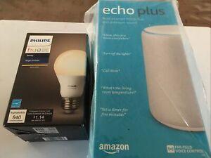 AMAZON ECHO PLUS (2nd Generation) White w/ Smart Light Bulb