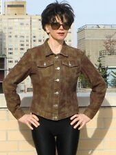 Vtg TODD OLDHAM JEANS DESIGNER Jacket Snakesprint Brown Animal print jacket M