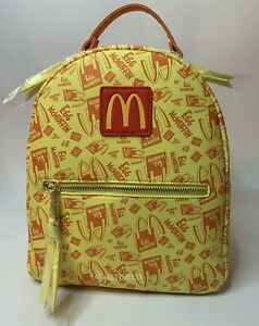 McDonald's Breakfast Egg McMuffin Logo Allover Print Mini Backpack Boxlunch NWT
