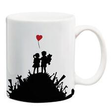 Banksy Graffiti art Love not war ceramic coffe cup tea cup