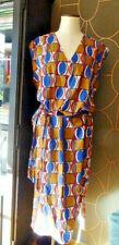 Robe légère droite boubou 100% coton wax africain T 46 48 parfait état