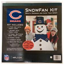 Chicago Bears NFL American Football Christmas Build A Snowman Kit