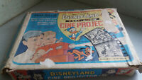 VINTAGE CHILDS TOY CHAD VALLEY CINE PROJECTOR - DISNEYLAND EASY SHOW - 3 FILMS
