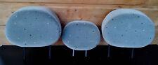 3 appuie-tête repose tete sieges banquette arriere gris pois C3 avec 6 guides