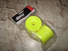 """Vintage RC Team Losi XXXT XXXNT Series Front Wheels 2.2"""" Yellow (2) 7055"""