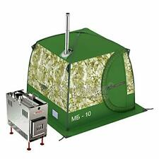 Mobiba Portable Mobile Sauna Tent MB-10A (3-4 pers.) + Wood Heater-Stove Mediana