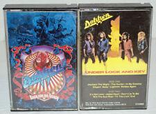 DOKKEN Lot of 2 Cassette Tapes, Under Lock And Key & Back For The Attack