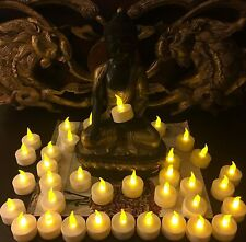 Flicking Candle light, Night Party Electrical Tea Light Last 2~3 days.