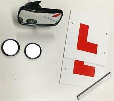 Instructor de conducción pequeño de aspiración Convexo Espejo Retrovisor & Punto Ciego + L Placas