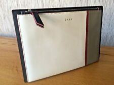 DKNY Colourblock Leather Greenwich Clutch Pouch Retail