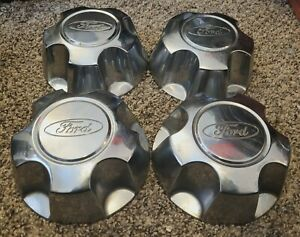 Set of 4 OEM 1998-02 Ford Crown Victoria P71 Ranger Explorer Hubcaps Center Caps
