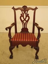 30033EC: Bench Made Hand Crafted Chippendale Walnut Armchair