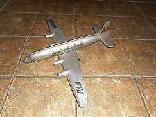 VINTAGE MARX PRESSED STEEL PAN AMERICAN WORLD AIRLINES TOY AIRPLANE - NO PROPS