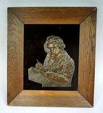 Bronzerelief Beethoven Bronze Relief um 1900