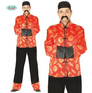 Mens Chinese Fancy Dress Costume Oriental China Type Book Outfit New fg