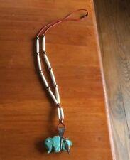 Antique Navajo Old Pawn Turquoise Buffalo Bone Necklace