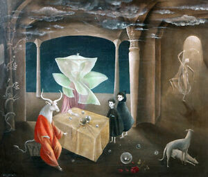 LEONORA CARRINGTON - Daughter of the Minotaur (60x51), CANVAS, POSTER FREE P&P