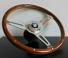 Steering Wheel BMW Wood Chrome Vintage E3 E9 E12 E21 E23 E24 2002 ti 1973-1984
