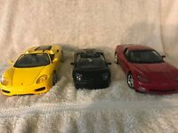 Lot of 1 1:24 & 2 1:18 Cars Ferrari 360, C6 Corvette, Lamborghini Murcielago