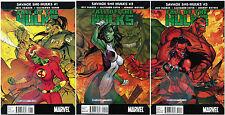 SAVAGE SHE-HULKS: FALL OF THE HULKS #1, 2 & 3 J. SCOTT CAMPBELL COVERS
