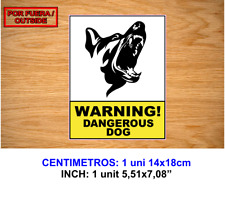 WARNING DOG PERRO VINILO PEGATINA VINYL STICKER DECAL AUFKLEBER AUTOCOLLANT