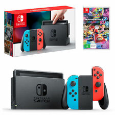 Nintendo Switch Console Neon + Mario Kart 8 Deluxe Bundle *NEW*+Warranty!!