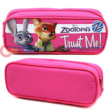 Zootopia Pencil Case Pink Canvas  Zippered Pouch Bag Cosmetic Bag