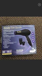 HOT TOOLS Professional 1875W Superlite + Quiet Ionic Turbo Dryer, Black