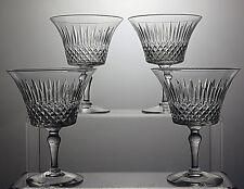 "VINTAGE STUART CRYSTAL ""STU14"" CUT GLASS WINE GLASSES SET OF 4 - SIGNED"
