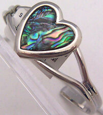 PAUA Shell abalone Nature's 1 Cuff Bracelet Wheeler Mfg.  Heart cfb 102 NEW