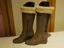 UGG® AUSTRALIA FELICITY 5450 LEATHER WEDGE BOOTS UK 5.5 EUR 38 USA 7 RRP £225