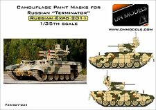 """Camouflage Paint Masks for Russian BMPT """"TERMINATOR"""" I 1/35 Arms Expo 2011"""