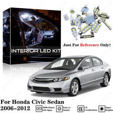 Pure White LED Interior Package Bulb Kit+ Tool For Honda Civic Sedan 2006-2012