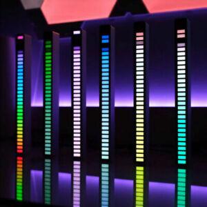 40LED RGB Car Atmosphere Ambient Light Strip Bar Rhythm Music Sound Control Lamp