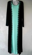 Abaya Robe Jilbab Jellabiya djelaba robe de soirée Jersey Robe dentelle Taille 34/36