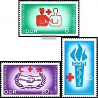 DDR 1207-1209 (kompl.Ausgabe) postfrisch 1966 Blutspendewesen