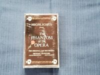 Highlights From The Phantom Of The Opera Cassette Used Tickets Broadway 10/21/95